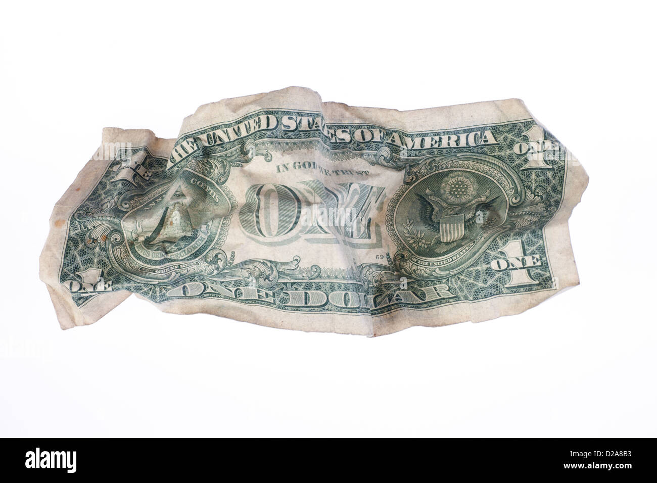 Berlin, Germany, crumpled U.S. dollar bill - Stock Image
