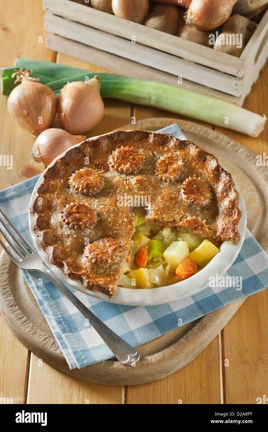 Woolton Pie Wartime austerity dish UK Food - Stock Image