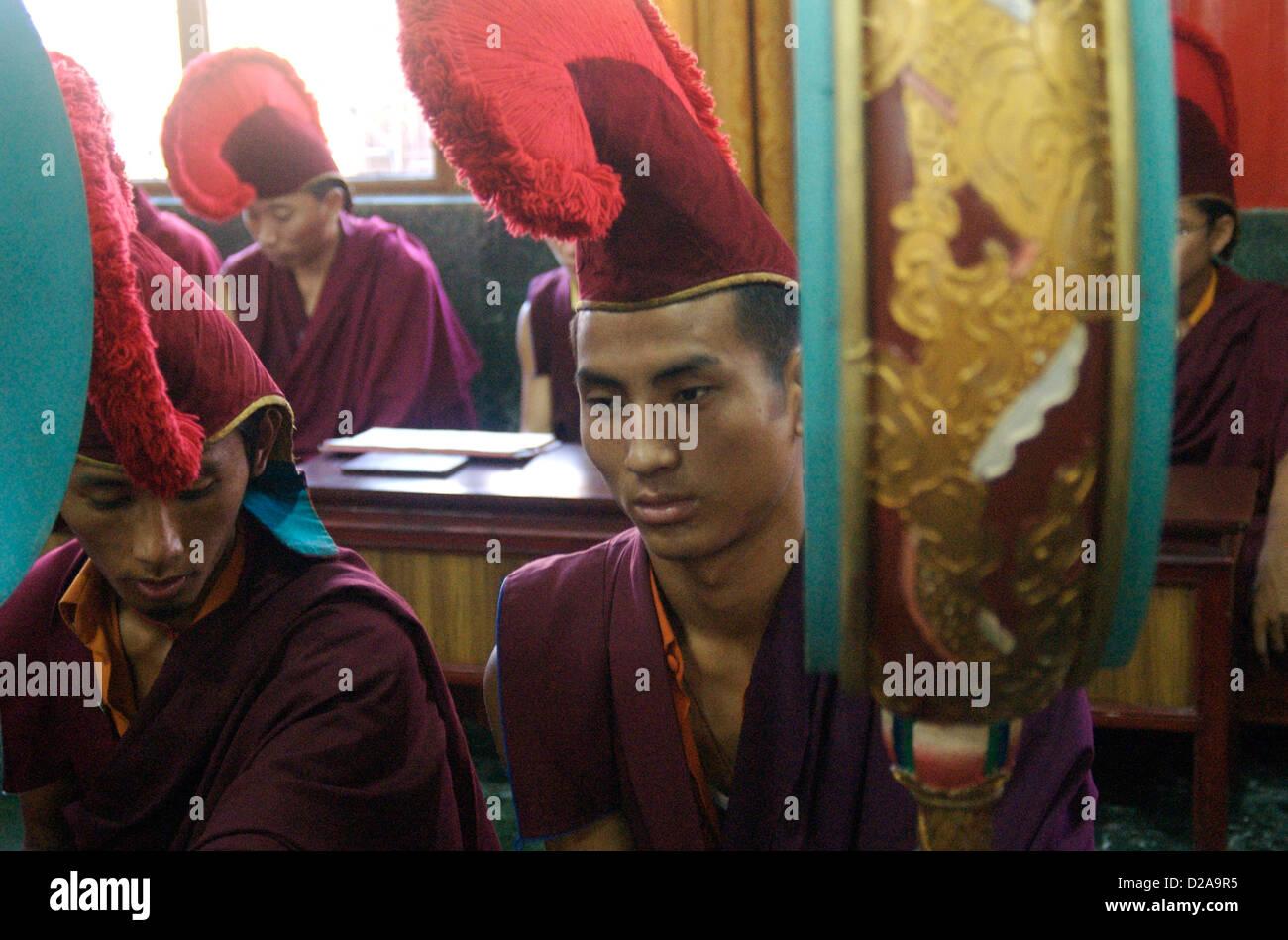 India, Tibetan Buddhist Monks, Vajrakilaya Ceremony Sakya