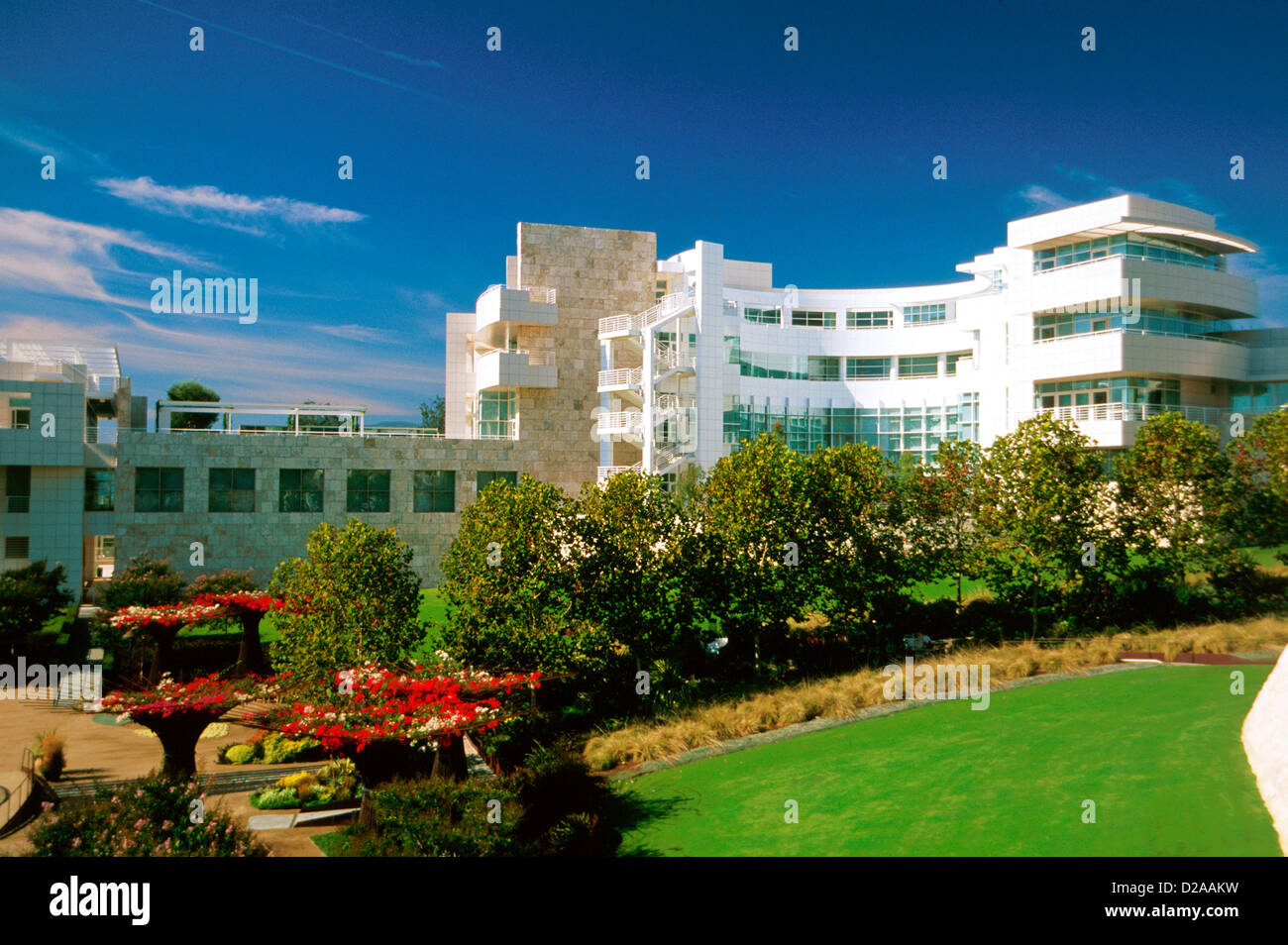 California. Los Angeles. Getty Museum. - Stock Image