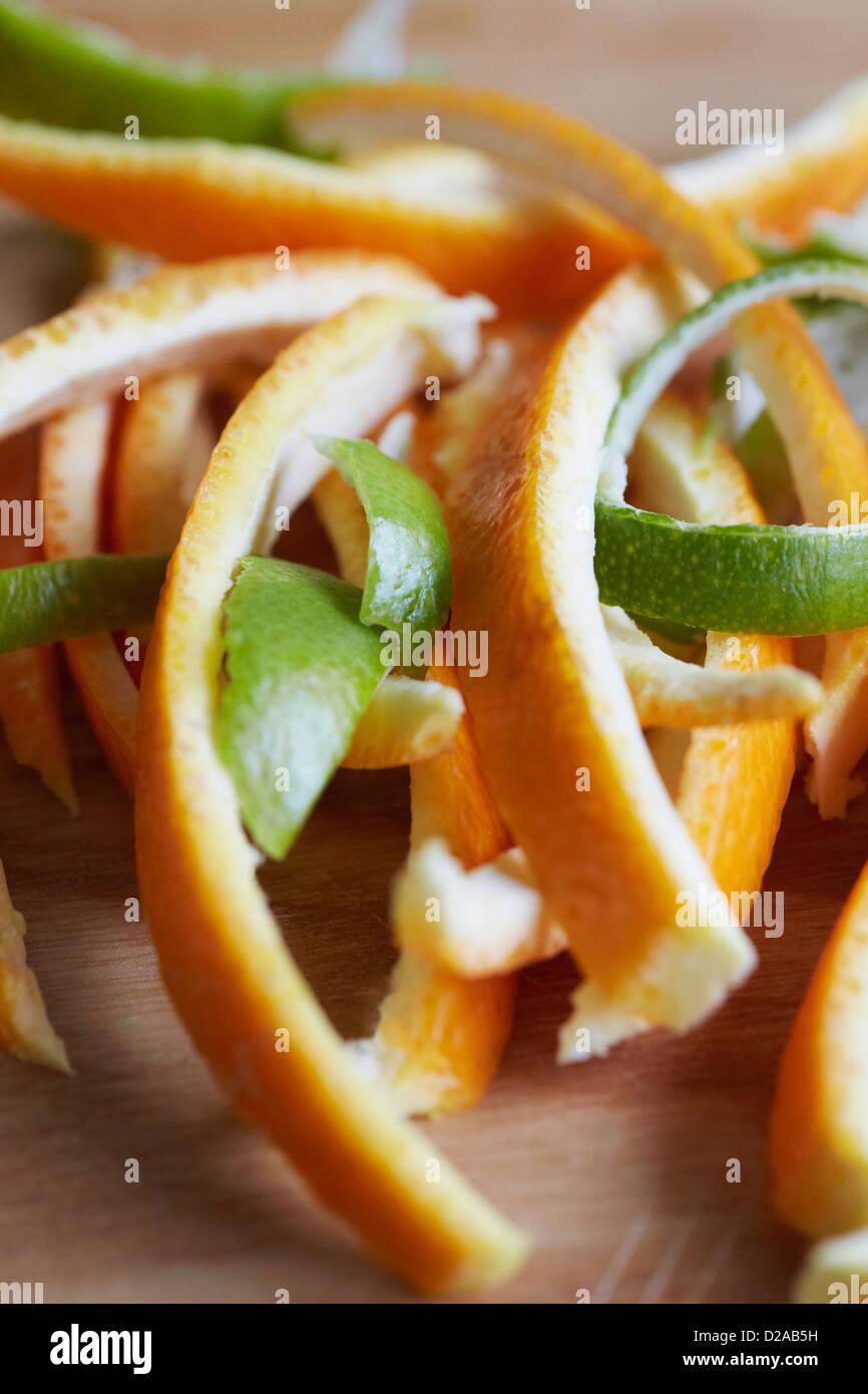 Close up of citrus peels - Stock Image