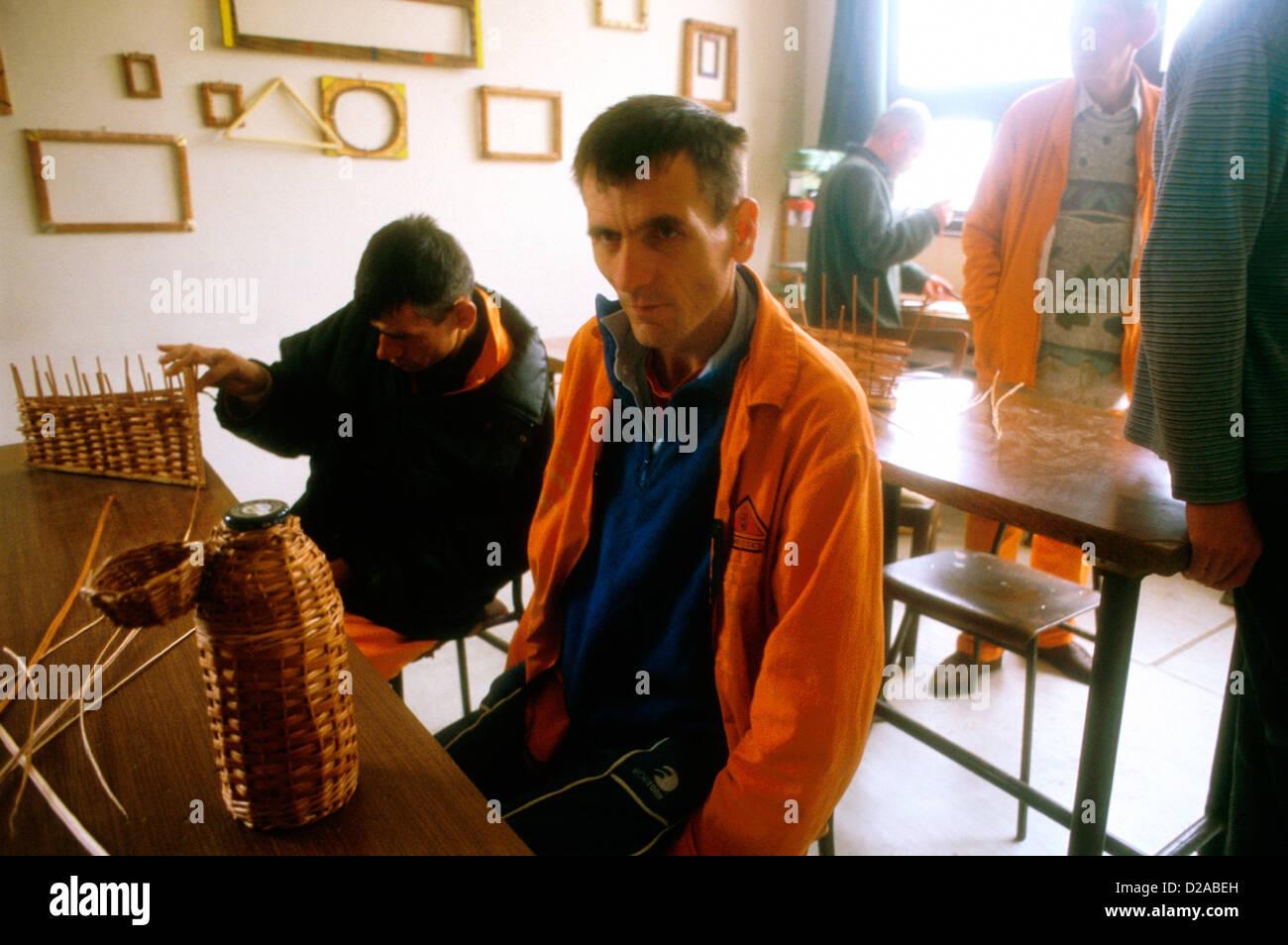 Bosnia. Pazaric Mental Institution. - Stock Image