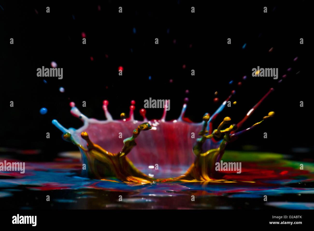 Close up of splash of paint - Stock Image