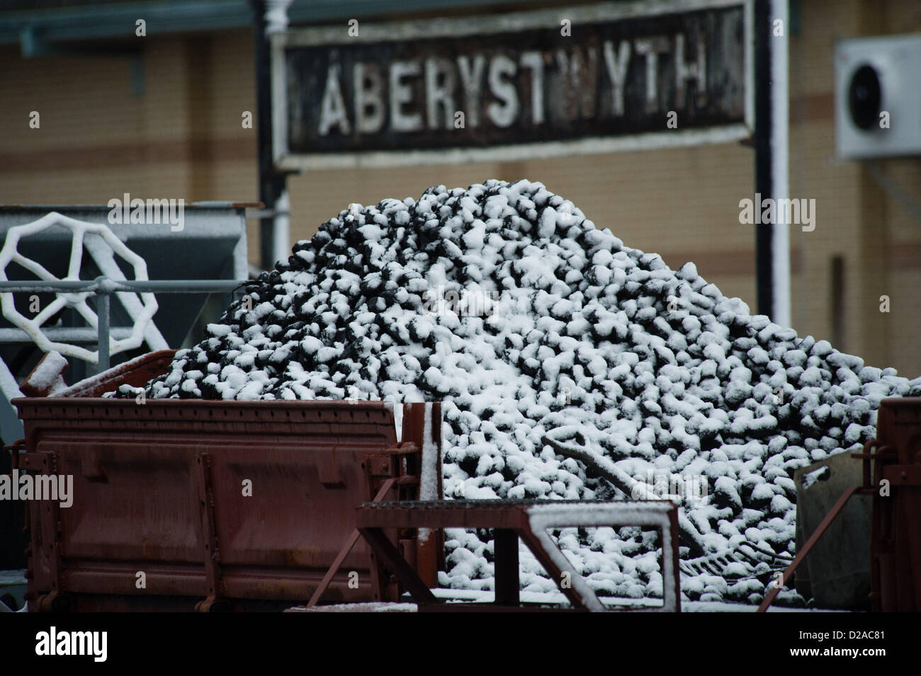 Aberystwyth, Wales, UK. 18th January 2013. Some snowy weather but Aberystwyth on the west coast of Wales escapes Stock Photo