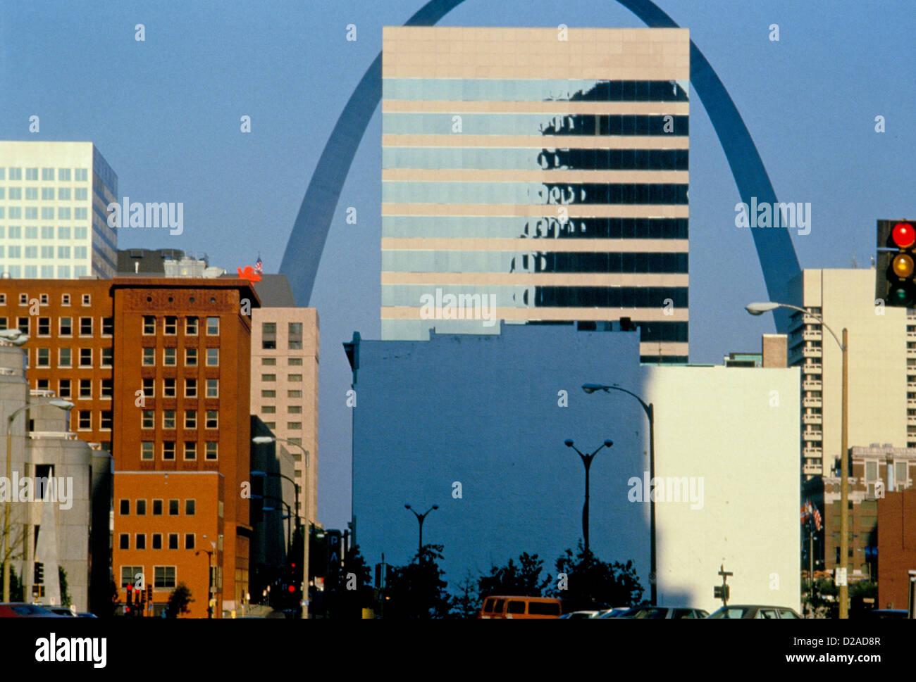 Missouri, Saint Louis, The Arch. - Stock Image