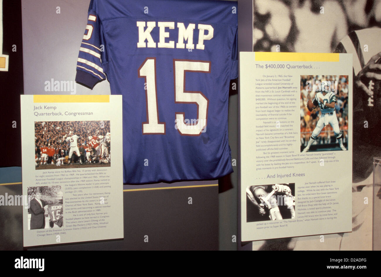 8c8541e87 ... norway jack kemps jersey and other memorabilia football hall of fame  canton ohio stock 16484 5e663
