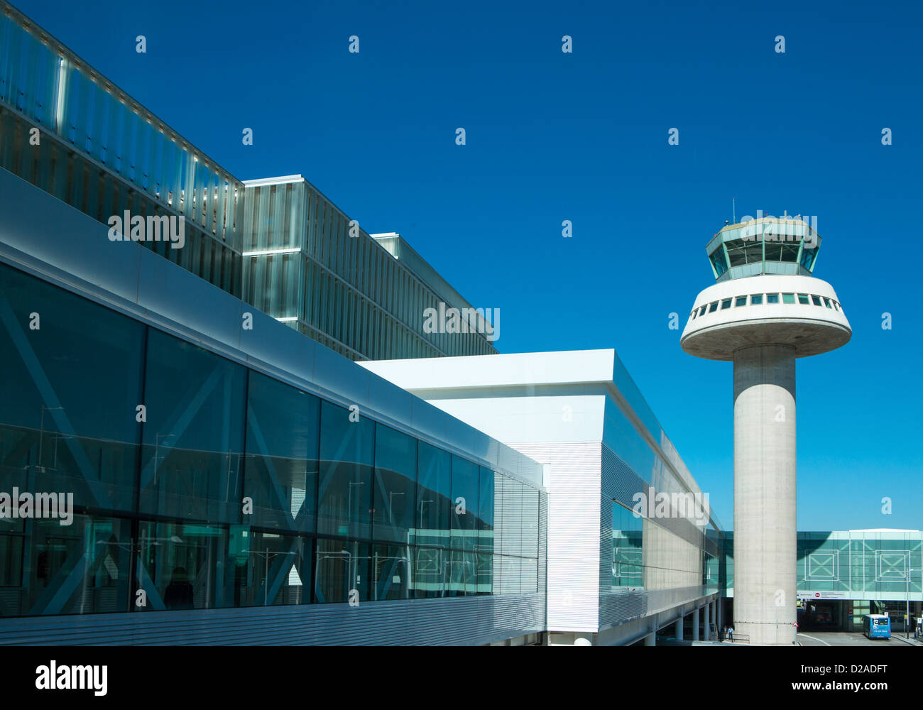 Spain, Barcelona, the Terminal T1 of the new airport designed by the architets Bofil and Ferrater. - Stock Image