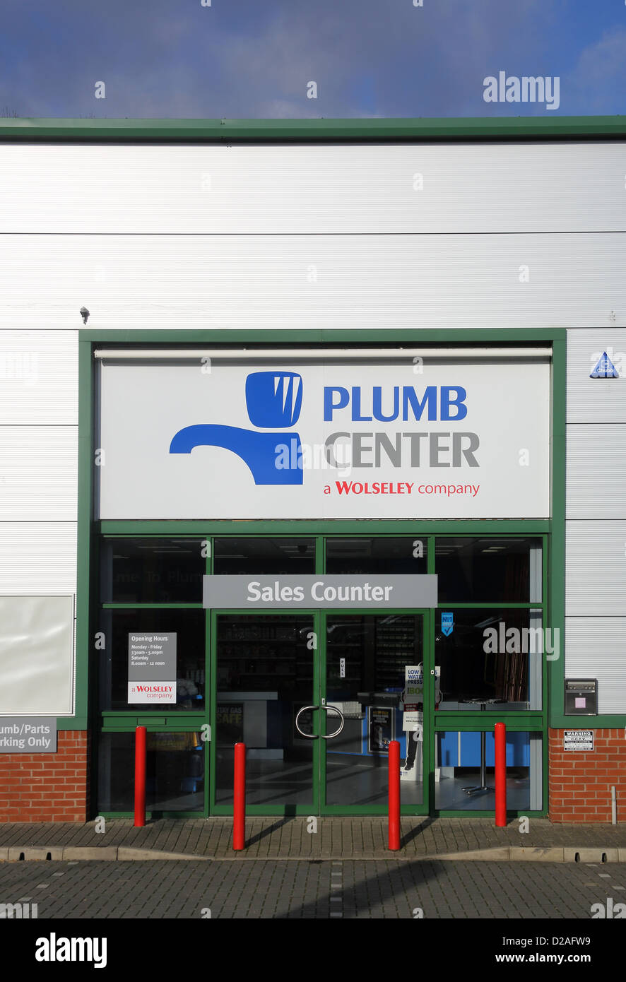 the plumb center plumbing supplies store in burgess hill west sussex Stock Photo