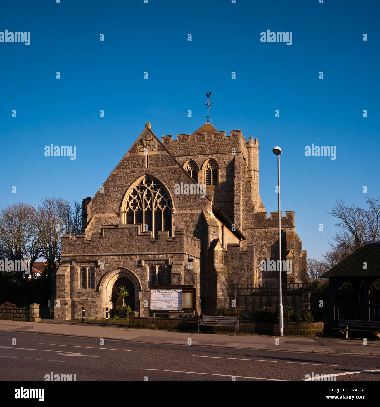 St Mary Magdalene Roman Catholic Church Sea Road Bexhill On Sea East Sussex UK - Stock Image