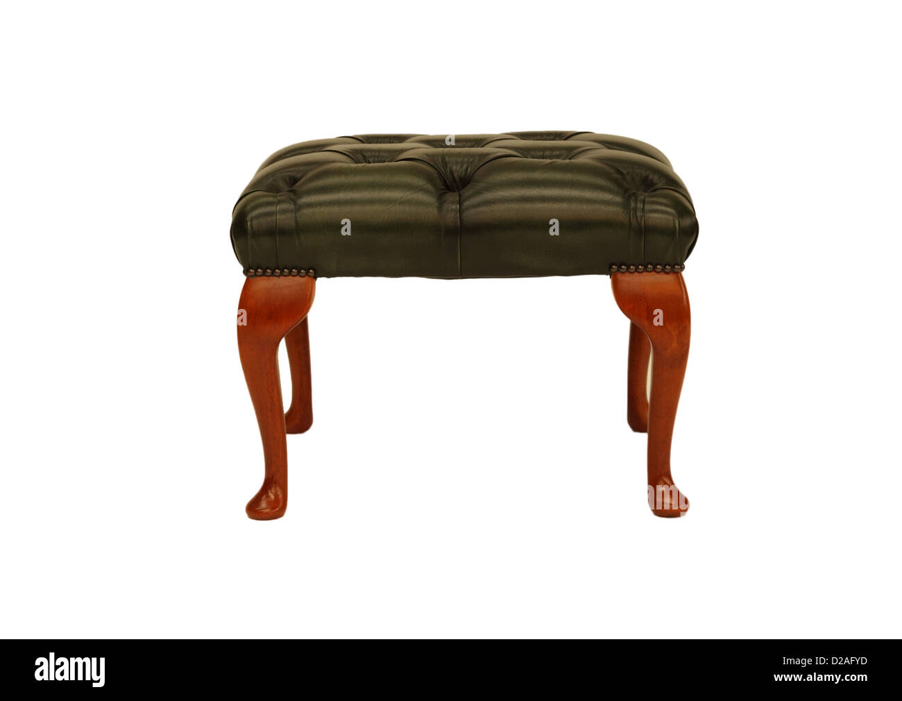 Terrific Chesterfield Leather Foot Stool Stock Photo 53092465 Alamy Dailytribune Chair Design For Home Dailytribuneorg