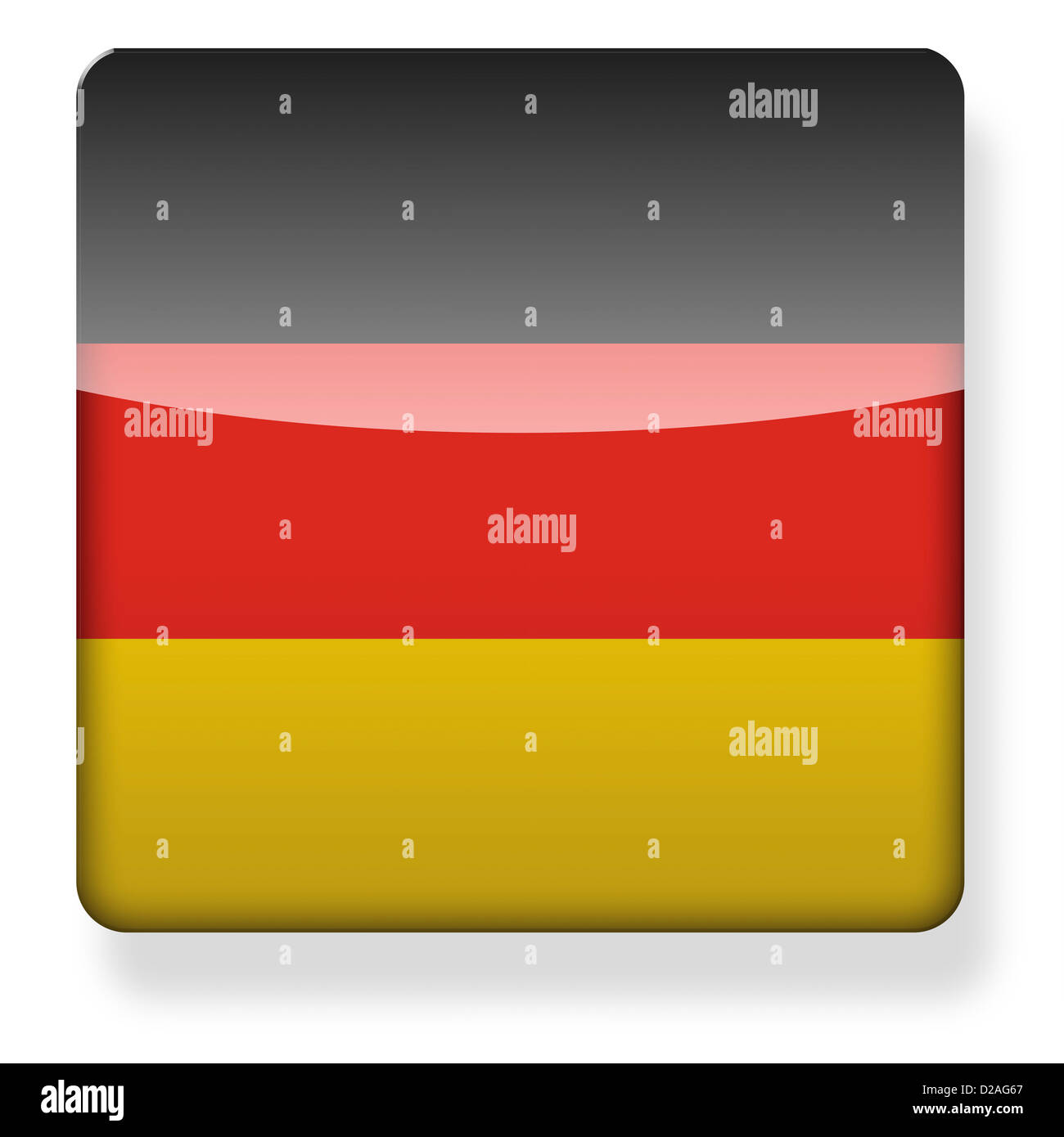 Germany flag as an app icon. Clipping path included. - Stock Image