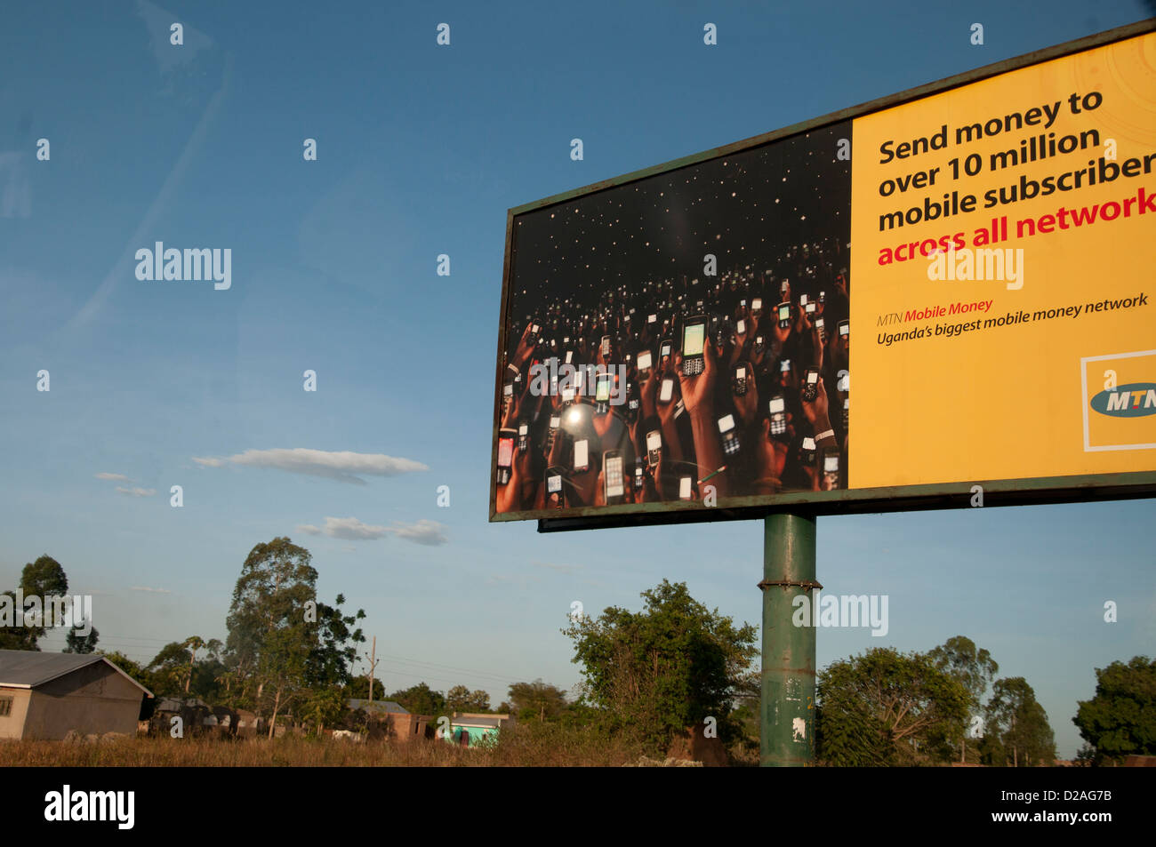 Billboard advertising MTN mobile phone/ cellphone network