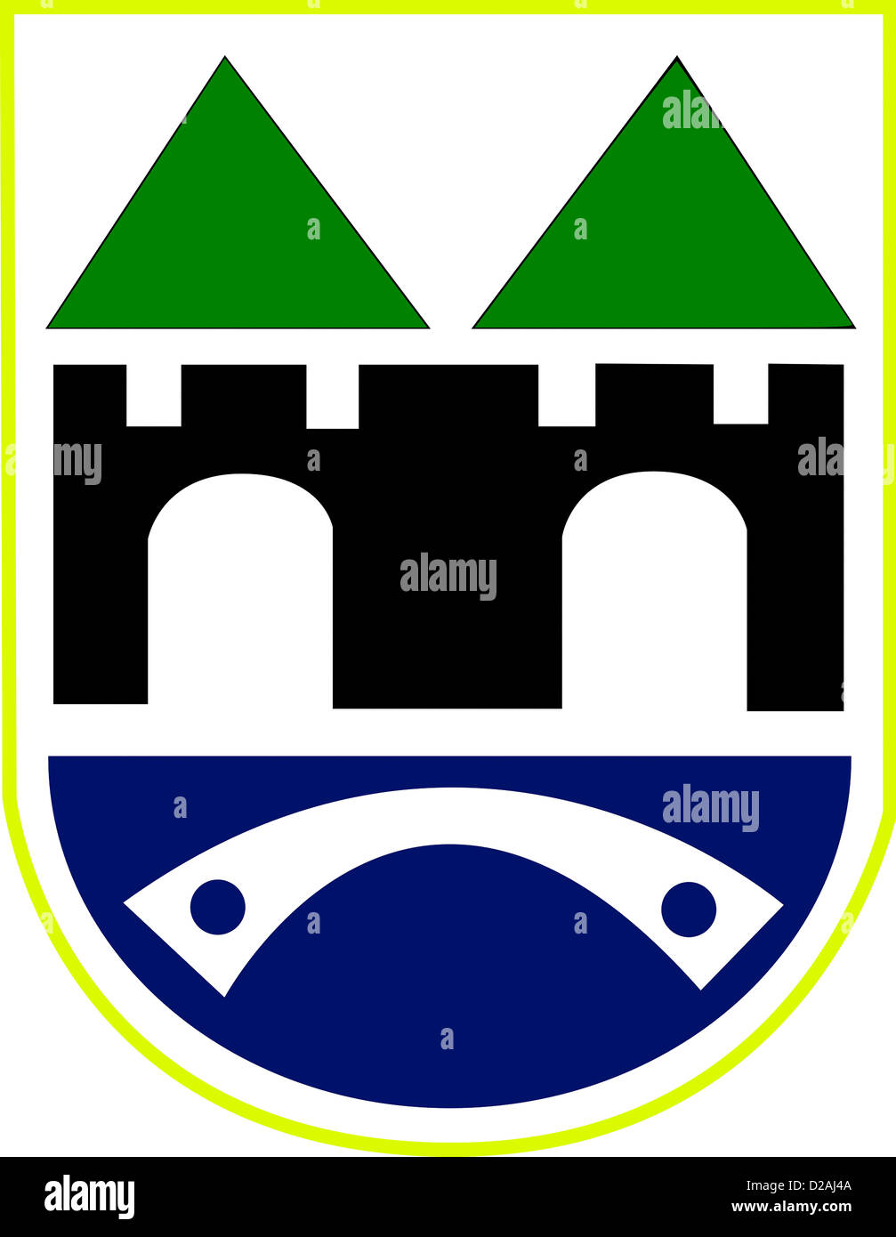 Coat of arms of Sarajevo - Capital city of Bosnia and Herzegovina. - Stock Image