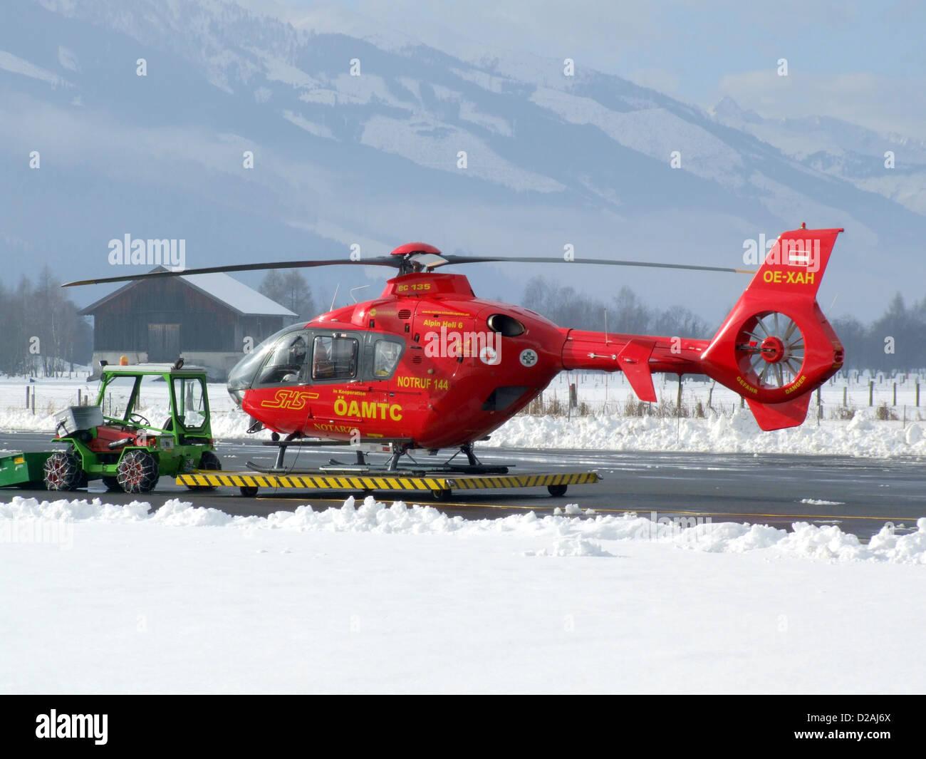 EC-135 OE-XAH Alpine Heli 6 ÖAMTC SHS Notarzt - Stock Image