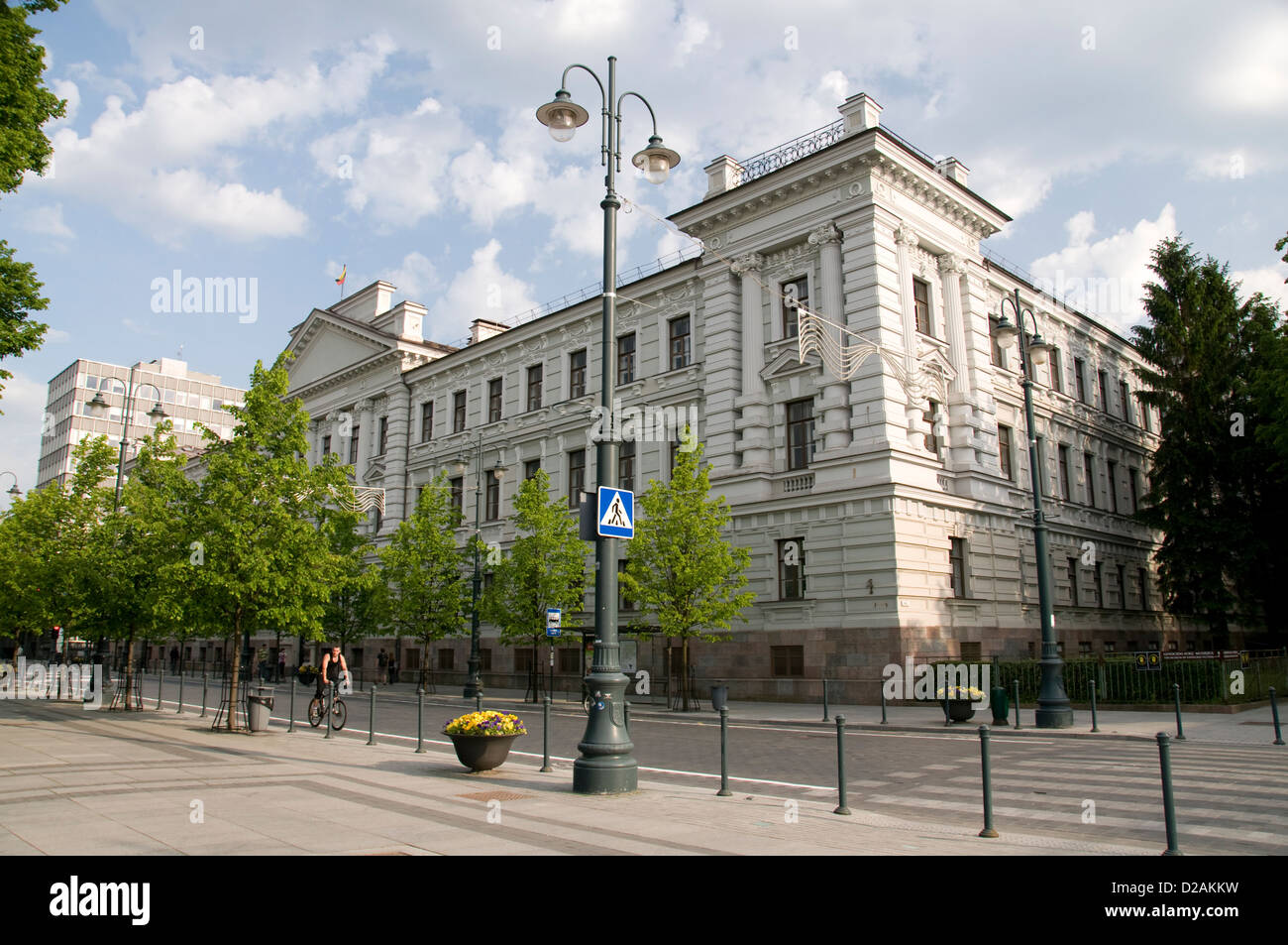 Former Nazi and KGB H.Q o  Gedimino Avenue in Vilnius, Lithuania,Baltic States - Stock Image