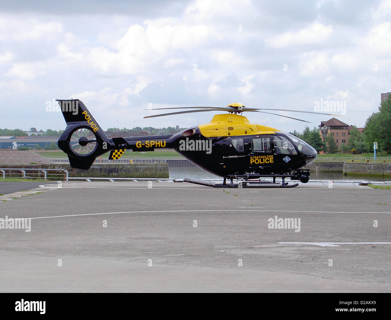 G-SPHU - UK - Police Services. ... G-SPHU - Bond Air Services Eurocopter EC135 - Stock Image