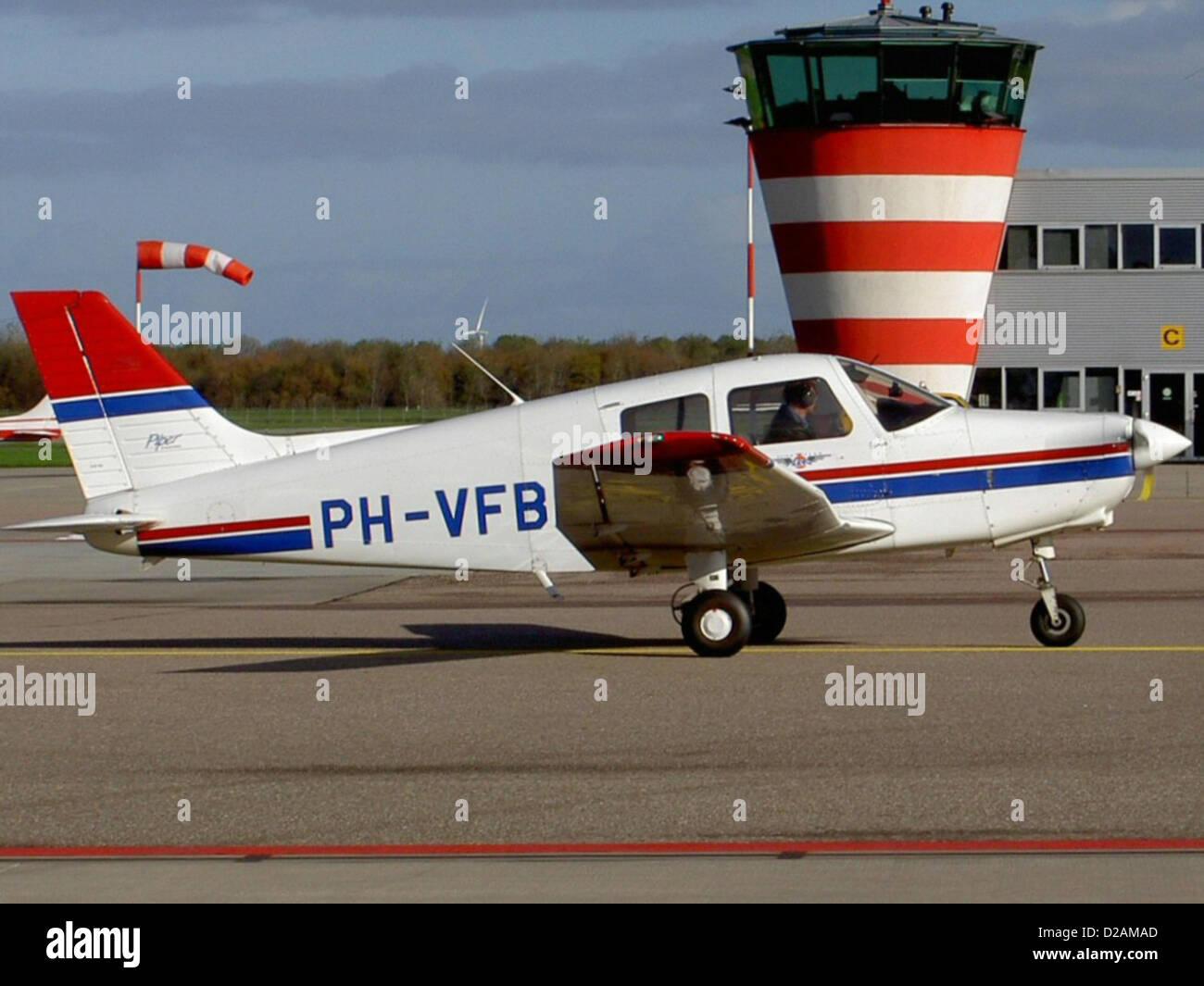 Piper PA-28-161 PH-VFB at Lelystad airport. - Stock Image
