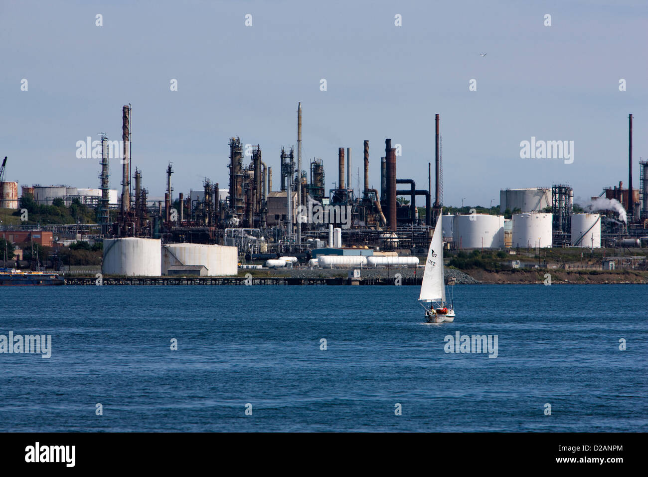 Petro chemical works and oil refinery in Dartmouth, Nova Scotia - Stock Image