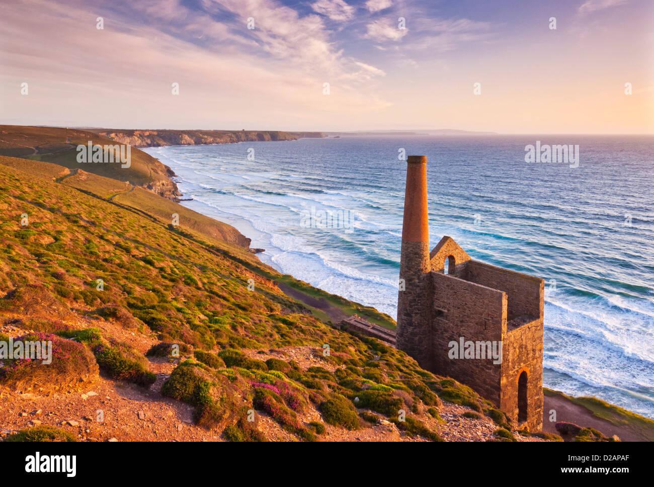 Wheal Coates cornish tin mine near St Agnes North Cornwall coast England GB UK EU Europe - Stock Image