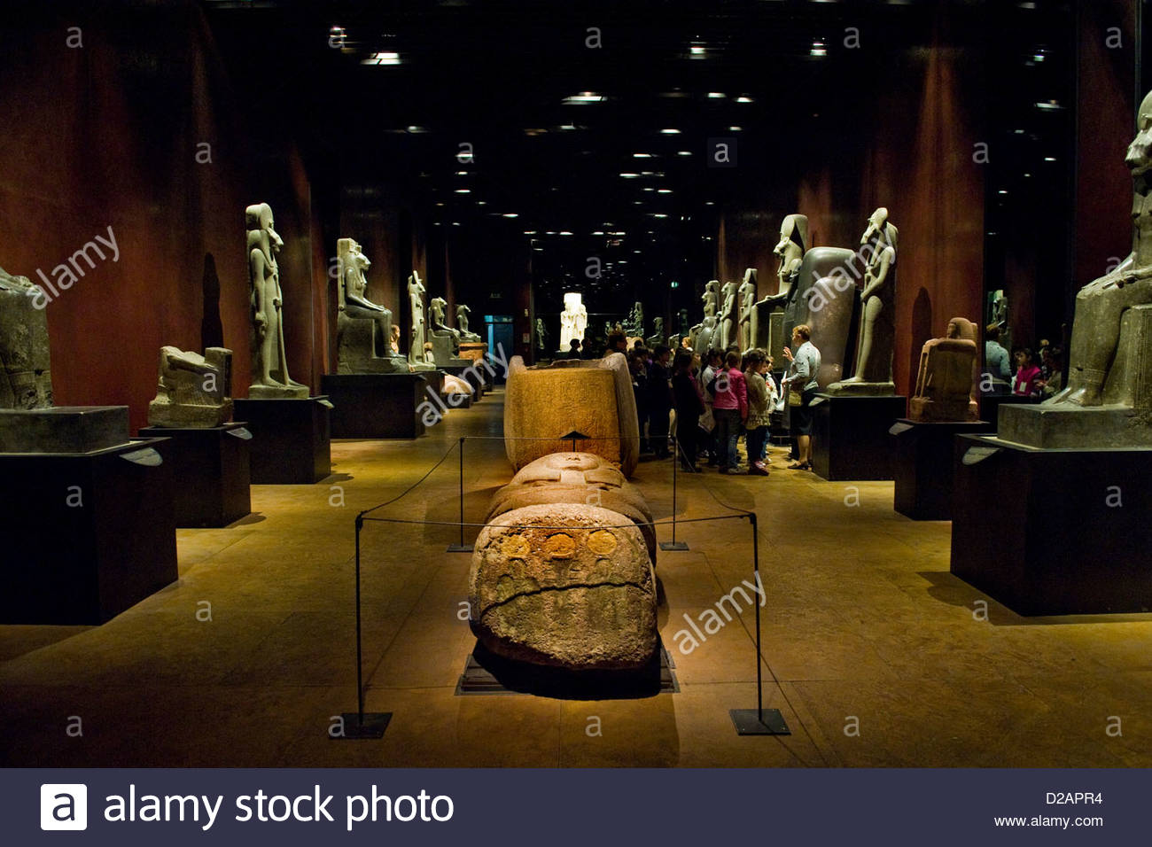 Italy,Piedmont,Turin,Egyptian Museum,Statuary room - Stock Image