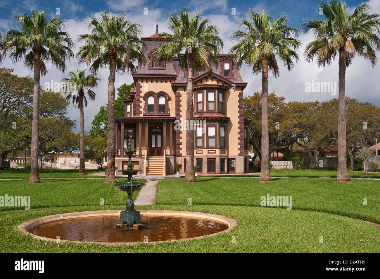 Fulton Mansion, French second empire style (1877), State Historic Site, Gulf Coast, Rockport, Texas, USA Stock Photo