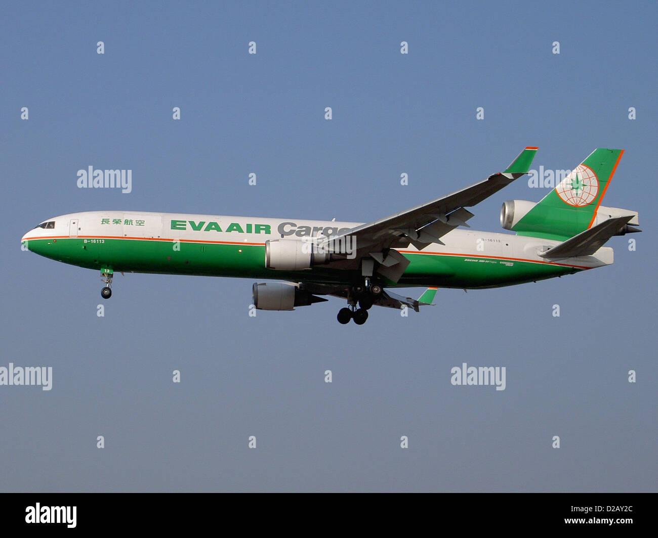 EVA Air Cargo McDonnell Douglas MD11F (B-16113) - Stock Image