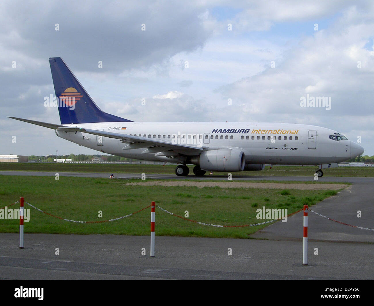 t D-AHID (Boeing 737-73S) from Hamburg International Airlines - Stock Image