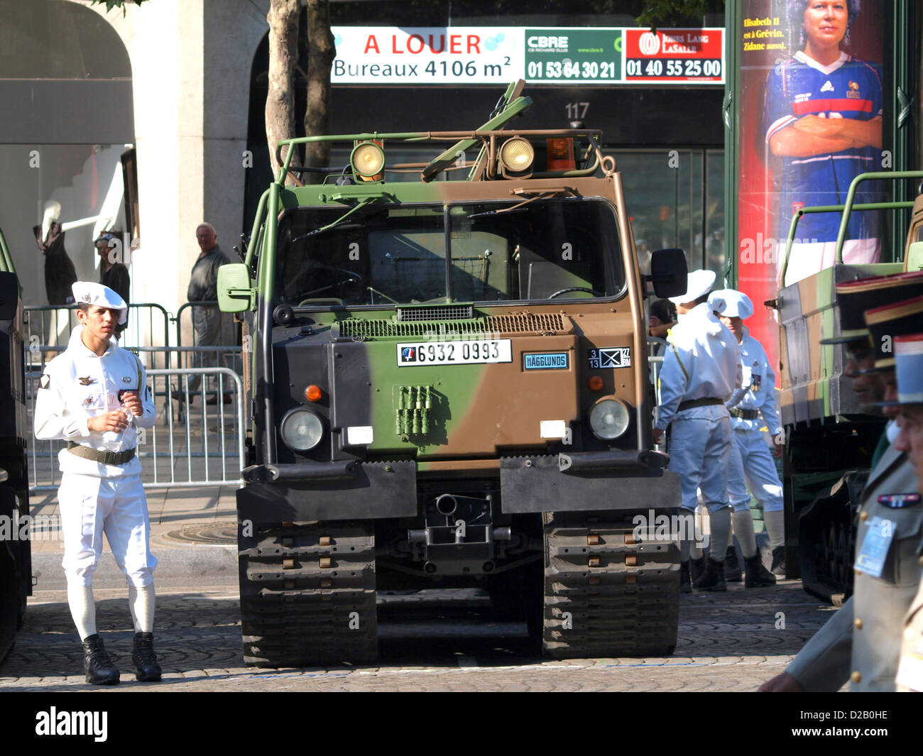 VHM-1 French military parade Champs Elysees - Stock Image