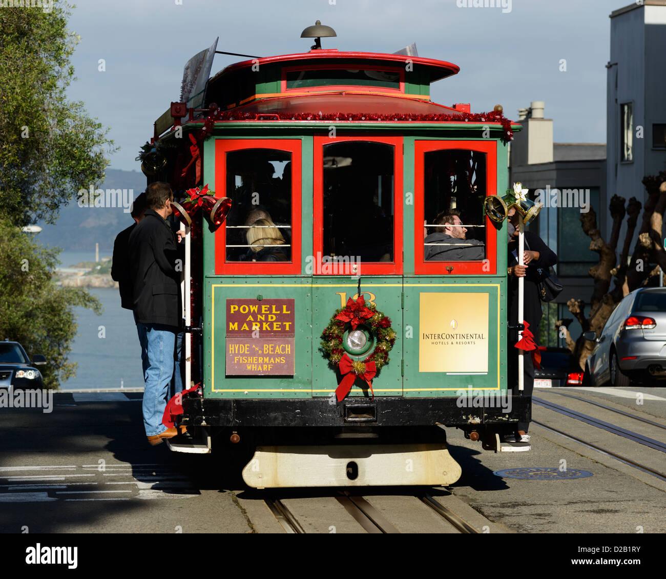 Tram San Francisco Hyde Stock Photos & Tram San Francisco