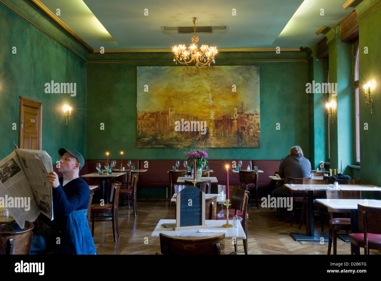 Berlin, Germany, guests at the restaurant Cafe Jolesch - Stock Image