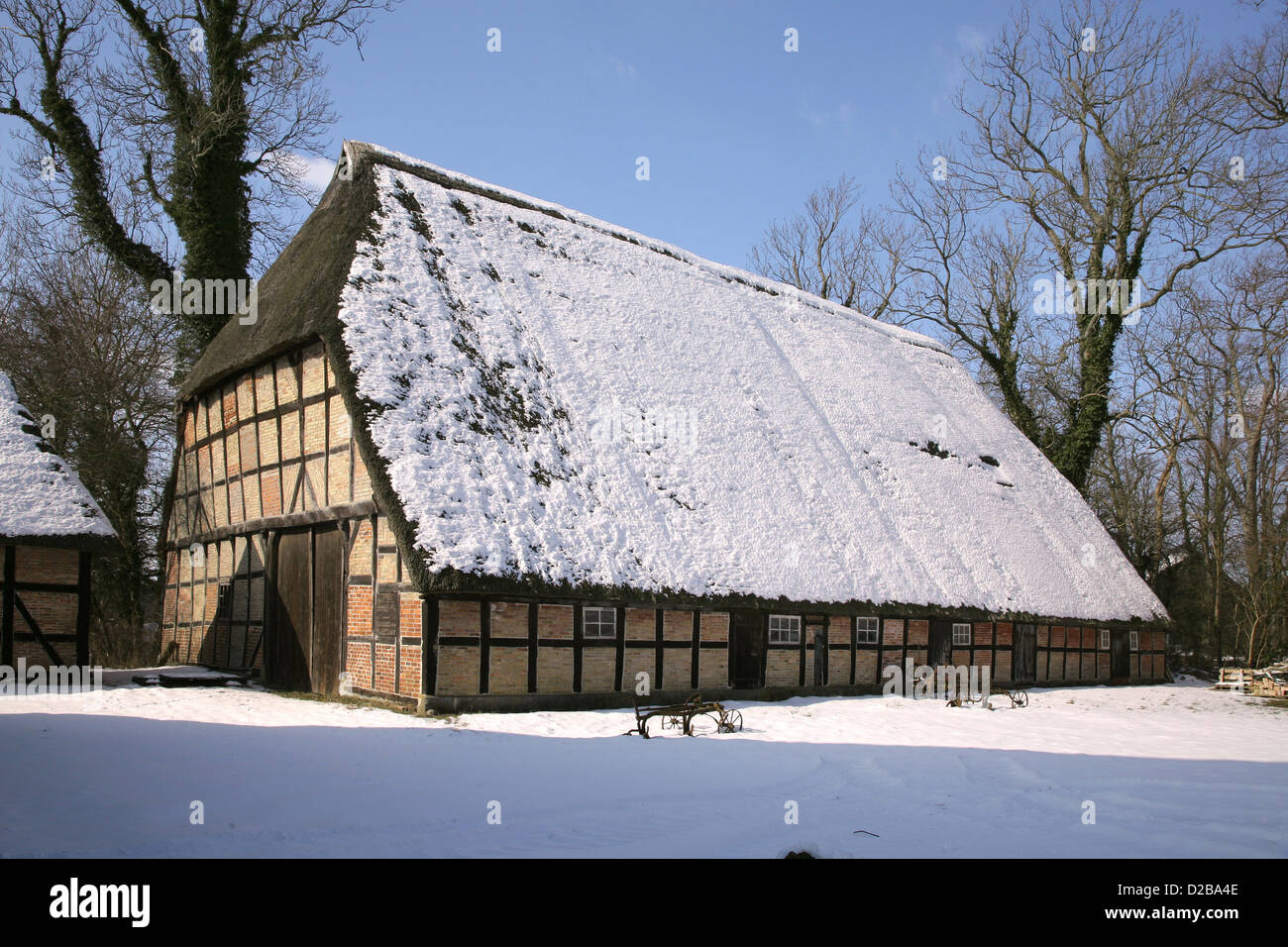 Damp Germany A Snowy Barn On The Property Damp Stock Photo