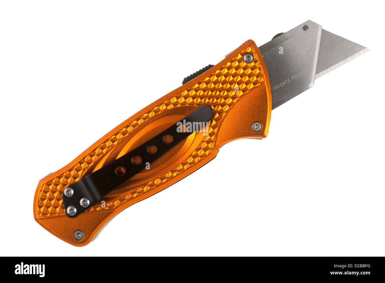Retractable safety utility knife - Stock Image