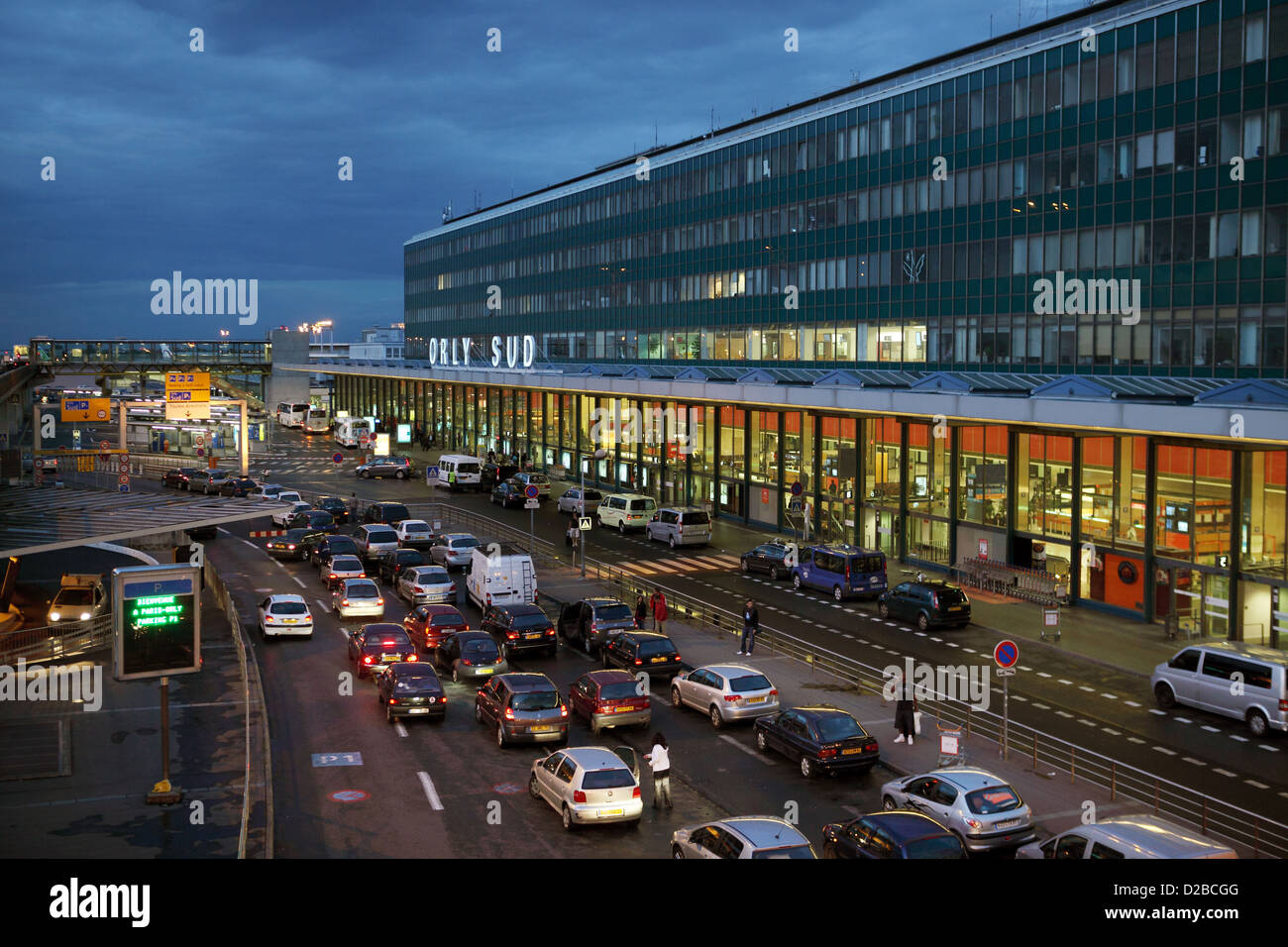 paris france orly sud airport terminal at dusk stock photo 53111760 alamy. Black Bedroom Furniture Sets. Home Design Ideas