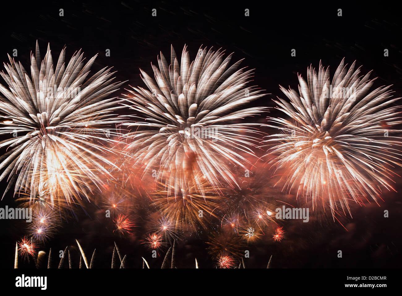 Berlin, Germany, fireworks Stock Photo