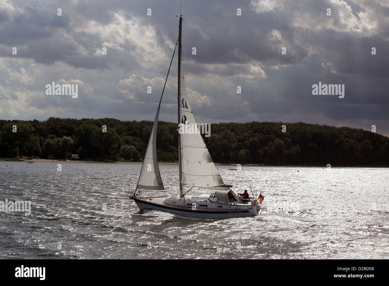 Wismar, Germany, sailboat on the Baltic Sea - Stock Image