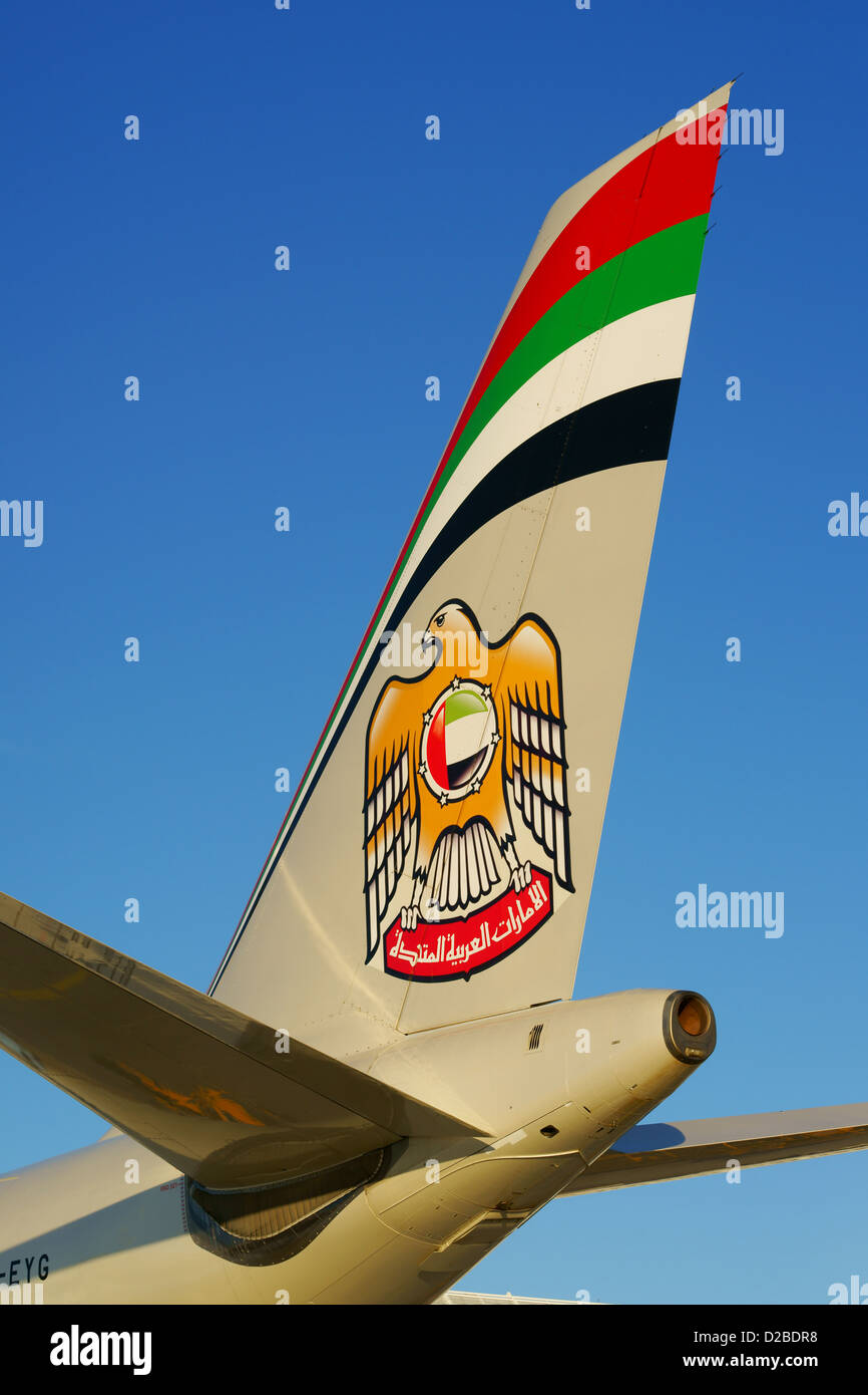 Etihad, Aircraft, Airplane - Stock Image
