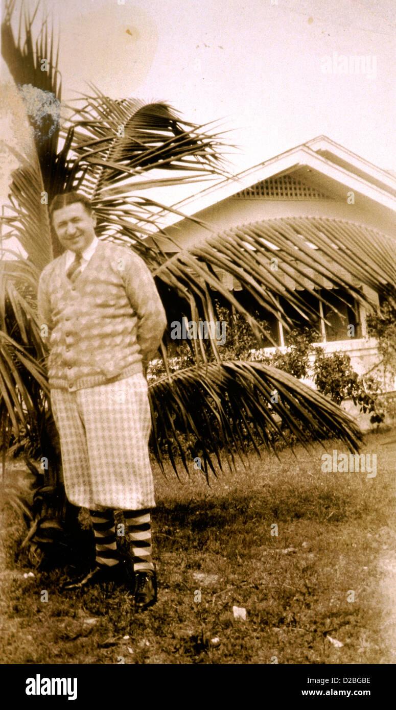 Man Outdoors, 1930'S. - Stock Image