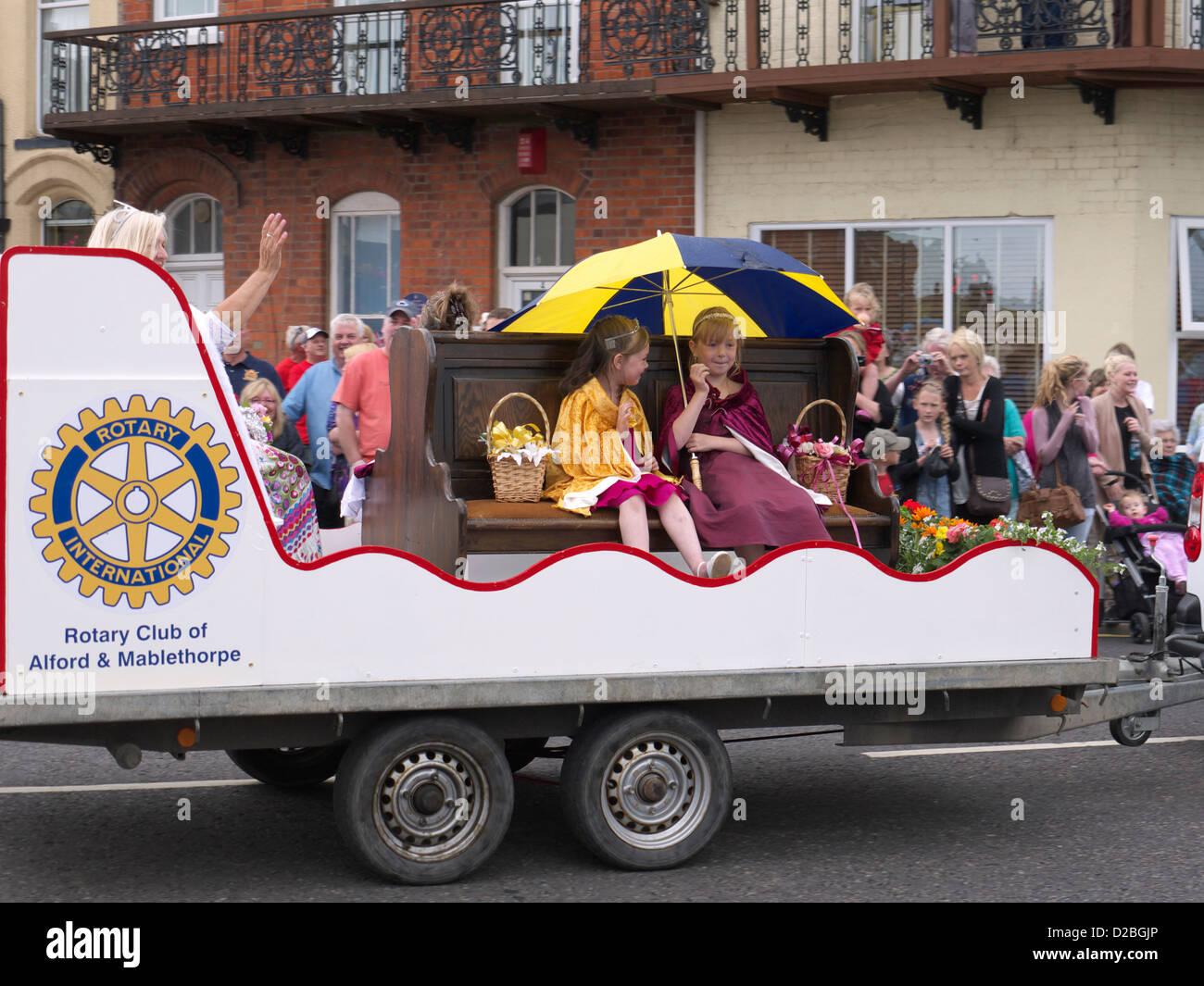 Carnival Princesses ,Sutton on sea carnival august 2012 - Stock Image