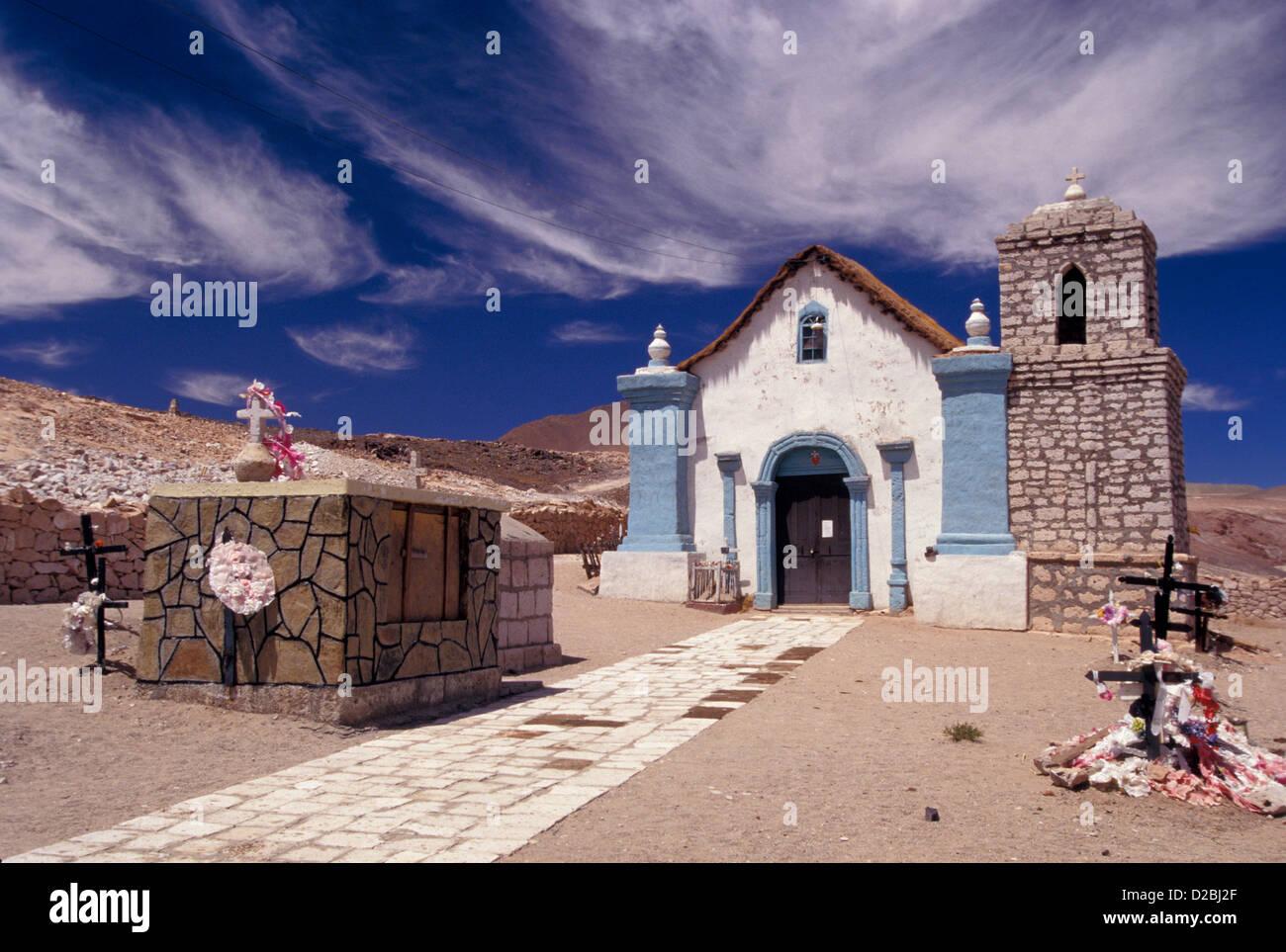 Chile, Conche Viejo, Campo De Paz Y Amor. Inca Burial Shrine - Stock Image