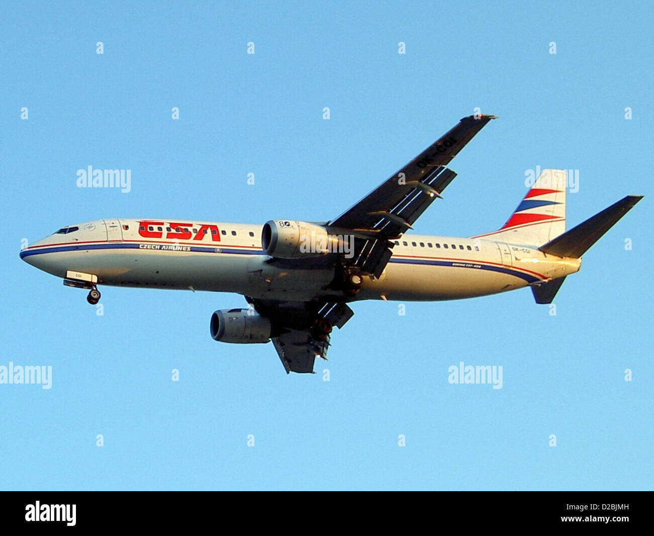 Boeing 737-400 (twin-jet)(OK-FGS), Boeing 737-45S Czech Airlines CSA - Stock Image