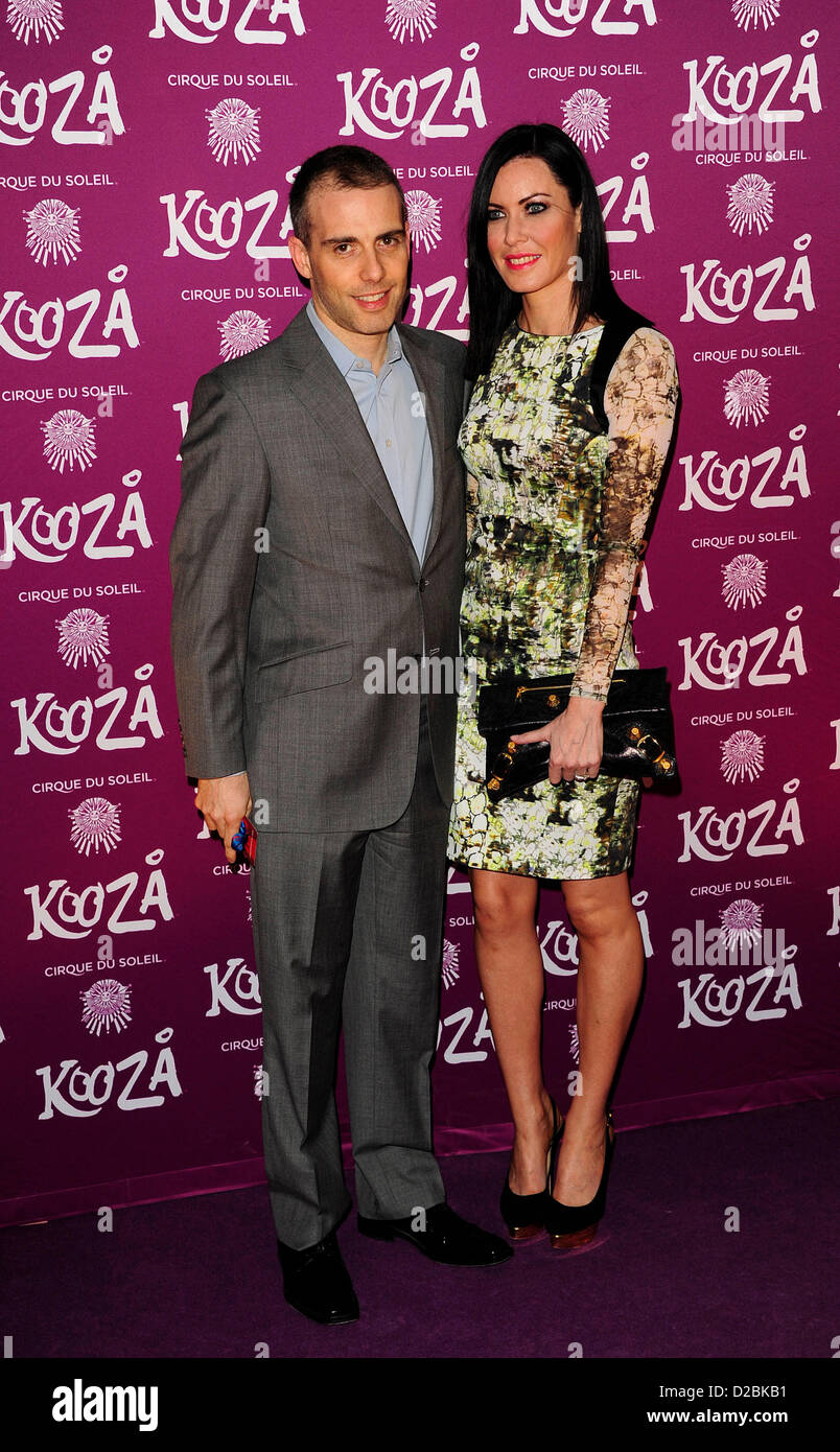 Will & Linz Stoppard attends the Cirque du Soleil - Kooze at the  Royal Albert Hall London. - Stock Image