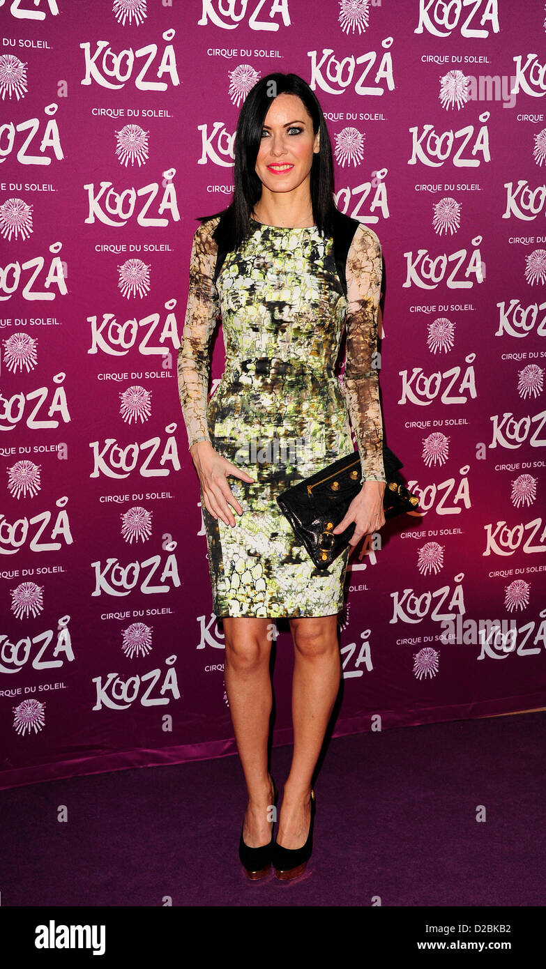 Linz Stoppard attends the Cirque du Soleil - Kooze at the  Royal Albert Hall London. - Stock Image