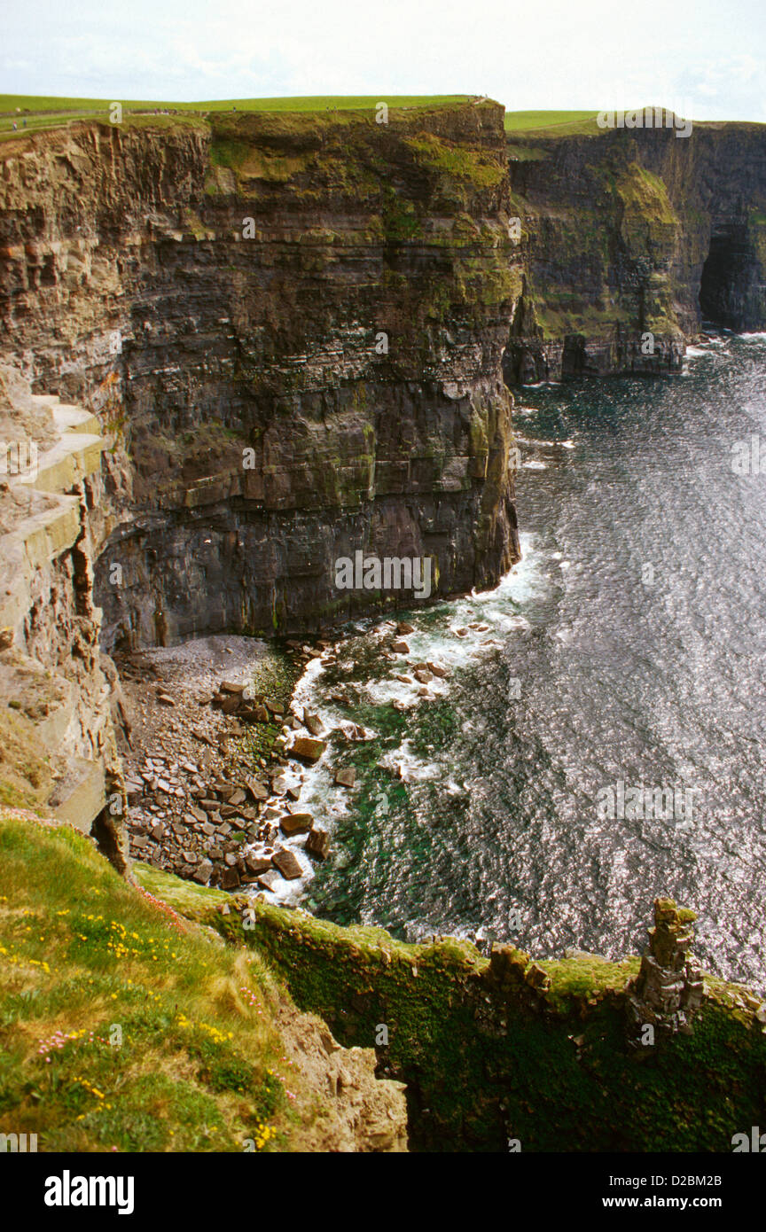 Ireland, County Claire, The Burren. Cliffs Of Moher - Stock Image