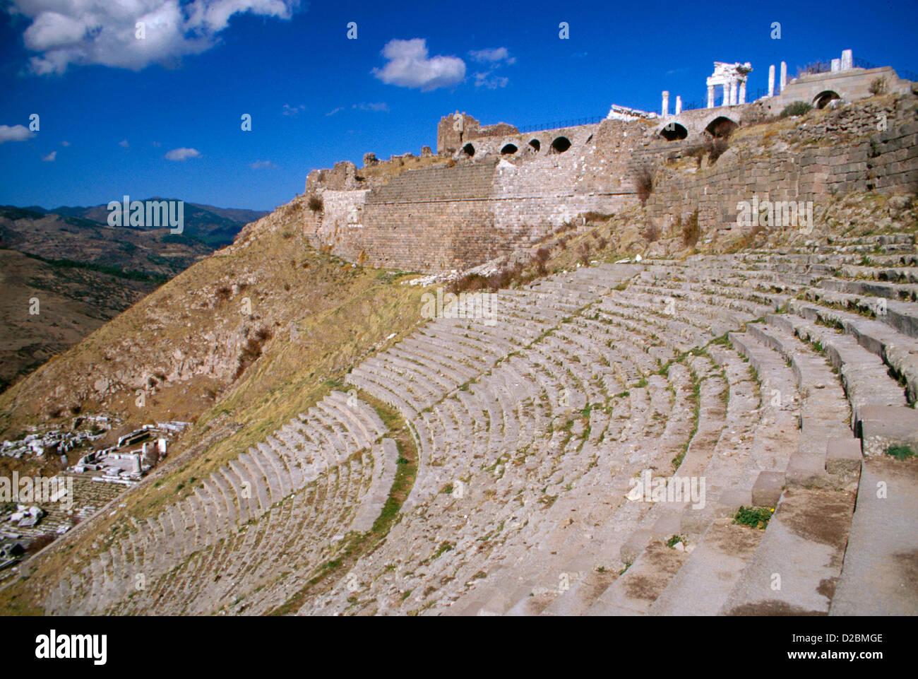Turkey, Pergamon/Bergama. The Theatre (3Rd Century Bc). - Stock Image