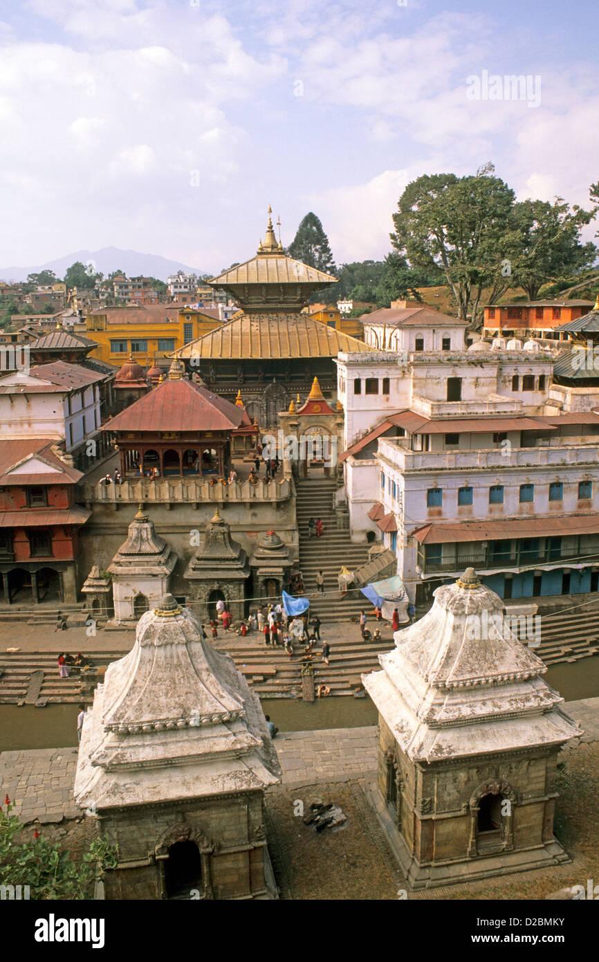 Nepal, Katmandu. Pashupatinath Temple - Stock Image