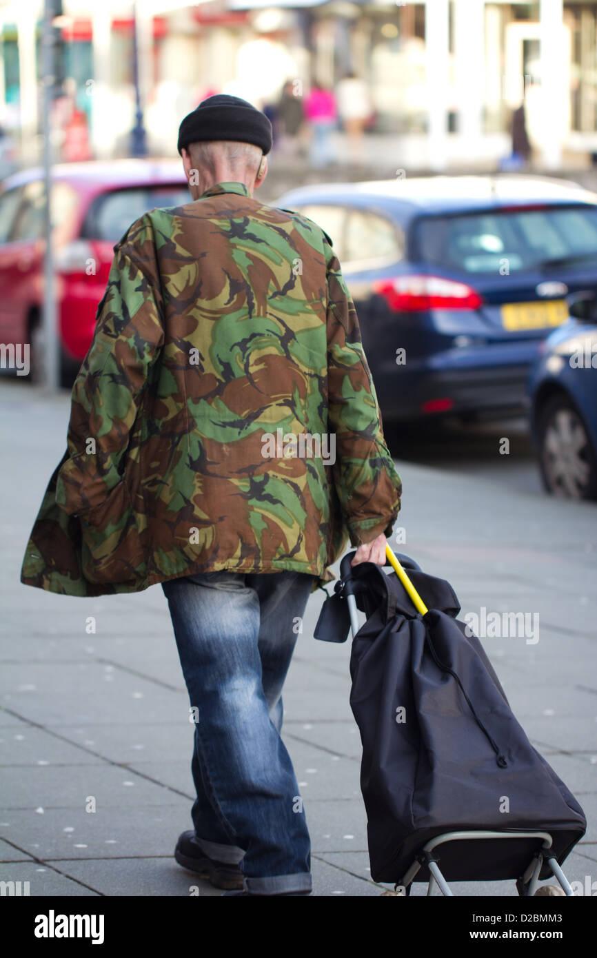 Camouflage Man - Stock Image