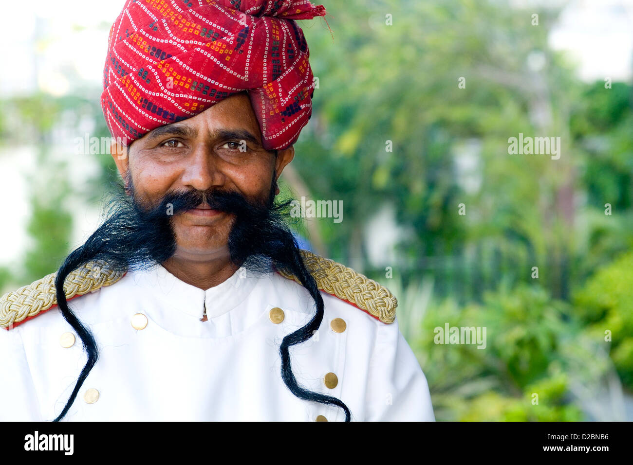 Man'S Moustache In Jaipur Rajasthan India - Stock Image