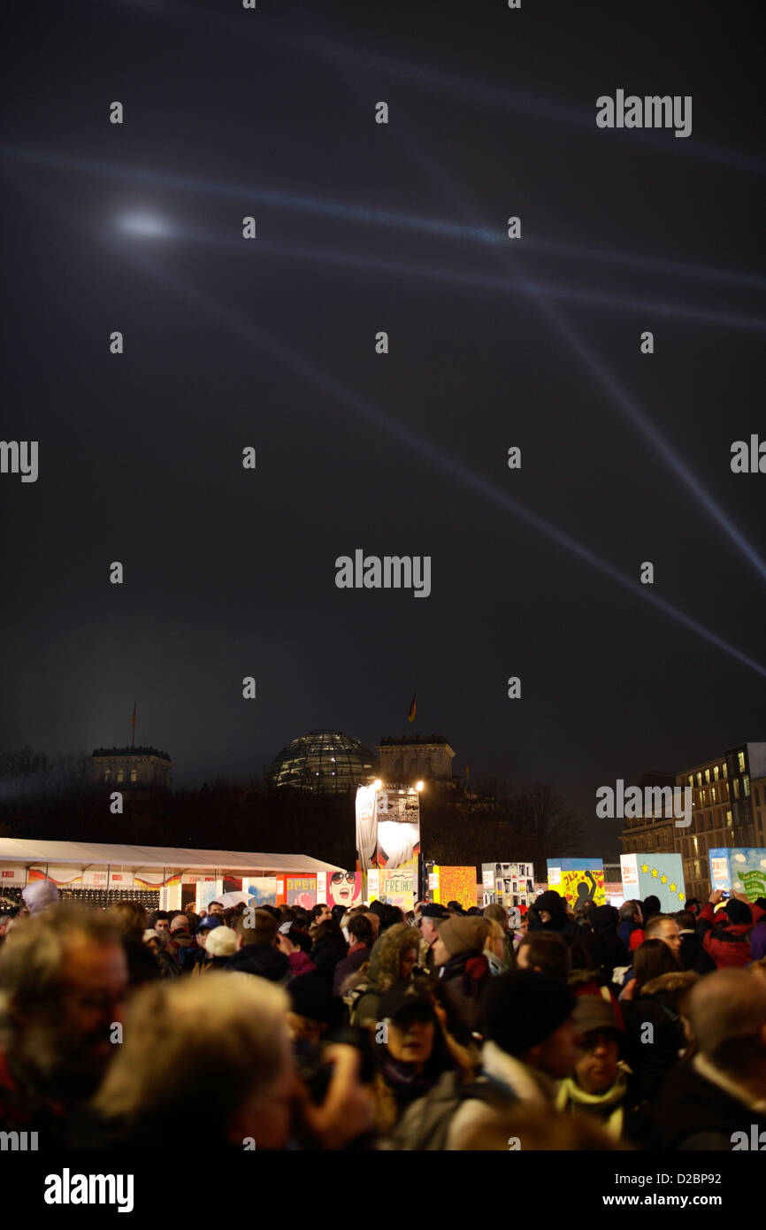 Berlin, Germany, celebrations of the 20th Anniversary of the fall - Stock Image