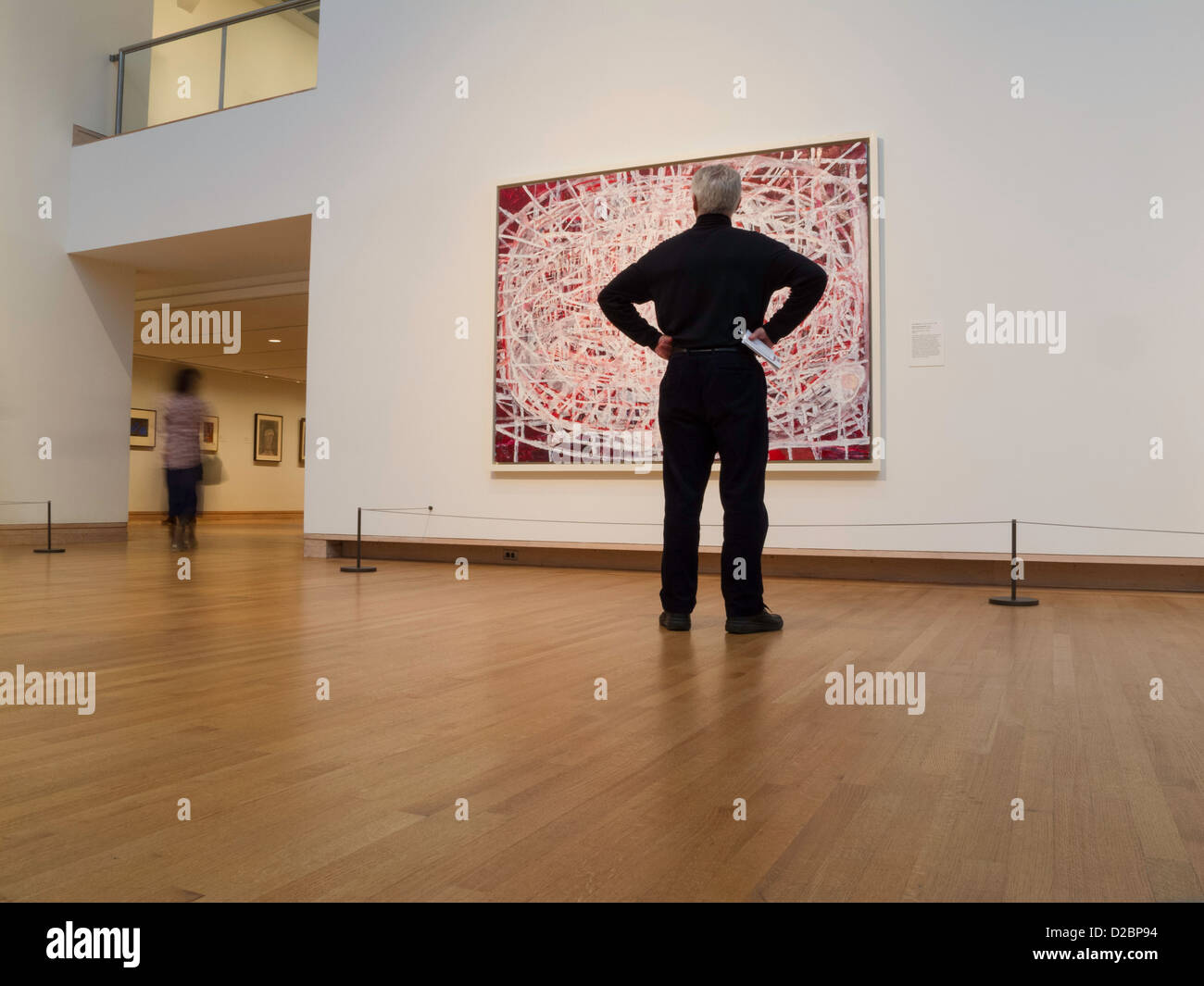 Modern Art Gallery in Levine Court, the Metropolitan Museum of Art, NYC - Stock Image