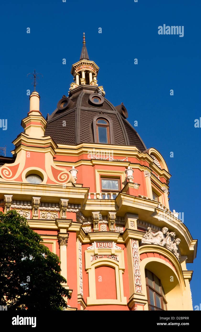 Ukrainian Architecture In City Center Of Kiev, Ukraine. - Stock Image